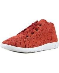 BEARPAW - Gracie Women Leather Red Fashion Trainers - Lyst