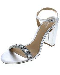 6038b36a649 Lyst - Badgley Mischka Jewel By Hendricks Rhinestone Dress Sandals ...