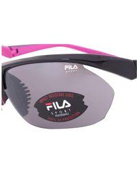 Fila   Sport Fac5024 001 Wrap Sunglasses   Black Frame   Grey Lens   Lyst