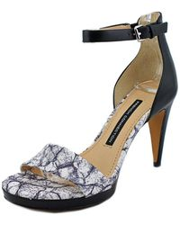 French Connection - Nata Women Open Toe Leather Sandals - Lyst