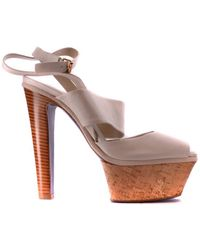 Mauro Grifoni - Women's White Leather Sandals - Lyst