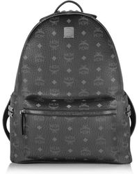 MCM - Women's Black Pvc Backpack - Lyst