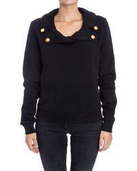 Boutique Moschino - Women's Black Cotton Sweatshirt - Lyst