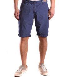 Franklin & Marshall - Men's Blue Cotton Shorts - Lyst
