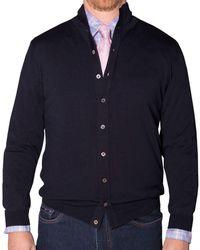 Robert Talbott - Duncan Mock Cardigan Sweater - Lyst