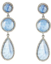 Adornia - Kyanite And Champagne Diamond Pilar Earrings - Lyst