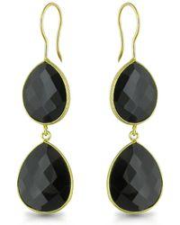 Catherine Malandrino - Onyx Earrings In Sterling Silver - Lyst