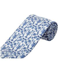 Cole Haan - Blue Clam Bake Silk-blend Tie - Lyst