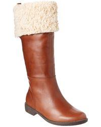 Taryn Rose - Avis Leather Tall Boot - Lyst