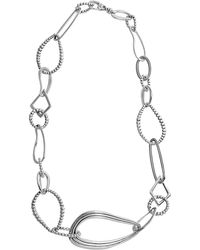 Lagos - Signature Caviar Silver Necklace - Lyst