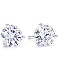 Suzy Levian | 3-prong 1/3 Cttw Diamond Martini Stud Earrings | Lyst
