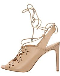 Michael Kors | Womens Thalia Leather Peep Toe Special Occasion Strappy Sandals | Lyst