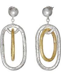 Gurhan - Hoopla Double Ring Drop Earrings - Lyst
