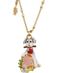 Les Nereides - Loves Animal Grey Dog Long Necklace - Lyst