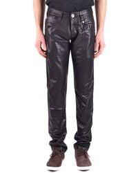 Dirk Bikkembergs - Men's Black Cotton Jeans - Lyst