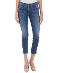 Jen7 - Viera Wash Blue Cropped Skinny Leg - Lyst