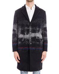 Iceberg - Men's Black Wool Coat - Lyst