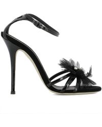 Giuseppe Zanotti - Design Women's Black Leather Sandals - Lyst