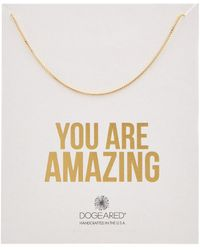 Dogeared - 14k Over Silver You Are Amazing Necklace - Lyst