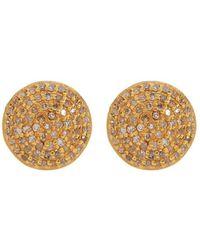 Adornia - Yellow Gold Vermeil And White Diamond Imogen Earrings - Lyst