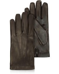 Moreschi - Siberia Dark Brown Leather Men's Gloves W/cashmere Lining - Lyst