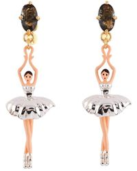 Les Nereides - Pas De Deux Silvered Ballerina Earrings - Lyst