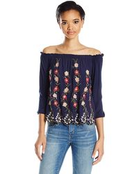 Lucky Brand - Off The Shoulder Top - Lyst