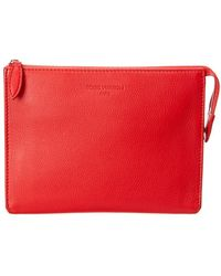 Louis Vuitton - Red Leather Pouch - Lyst