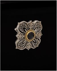 Konstantino - Nykta 18k & Silver 7.00 Ct. Onyx Filigree Clover Convertible Enhancer - Lyst