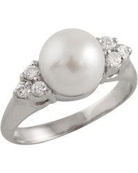 Splendid - Triple Cz Pearl Ring - Lyst