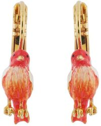 Les Nereides - Lovely Canaries Little Coral Bird Earrings - Lyst