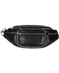 Alexander Wang - Women's 2028p0480l001 Black Leather Travel Bag - Lyst