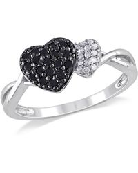 Catherine Malandrino - Double Heart Engagement Ring - Lyst
