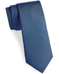 Saks Fifth Avenue - Made In Italy Zig-zag Silk Tie - Lyst
