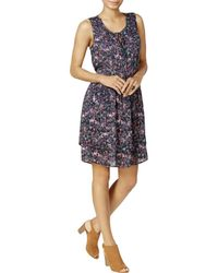 William Rast - Womens Woven Floral Print Cocktail Dress - Lyst