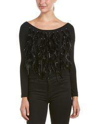 Haute Hippie - Feather Fringe Wool-blend Sweater - Lyst