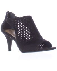 Style & Co. - Sc35 Helaine Perforated Caged Peep Toe Sandals, Black - Lyst