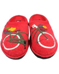 Haflinger - Mens Flair Bicycle Closed Toe Slip On Slippers, Bicycle Red, Size 6.5 - Lyst