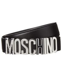 Moschino - Leather Logo Wrap Bracelet - Lyst