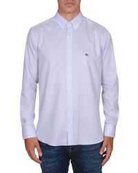 Etro | Men's Light Blue Cotton Shirt | Lyst