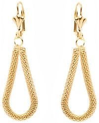 Peermont - Gold Teardrop Mesh Earrings - Lyst