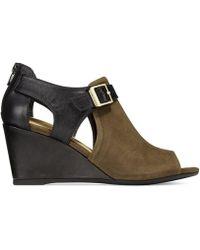Giani Bernini - Womens Alyssaa Leather Peep Toe Casual Platform Sandals - Lyst