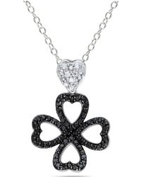 Catherine Malandrino - Heart Clover Pendant With Chain - Lyst
