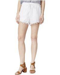 Kensie - Drawstring Pom-pom Shorts - Lyst