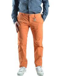 Siviglia | Men's Orange Cotton Trousers | Lyst