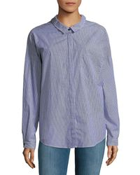 Sanctuary - Tie Back Boyfriend Button-down Shirt - Lyst