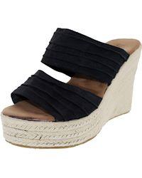 BEARPAW - Women's Primrose Black Fabric Sandal - 10m - Lyst