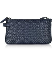 Z Zegna - Men's Blue Leather Clutch - Lyst