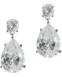 CZ by Kenneth Jay Lane - 8cttw Round/pear Cz Ears - Lyst