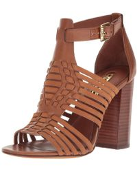 Lauren by Ralph Lauren | Lauren By Ralph Lauren Harietta Leather Open Toe Casual | Lyst